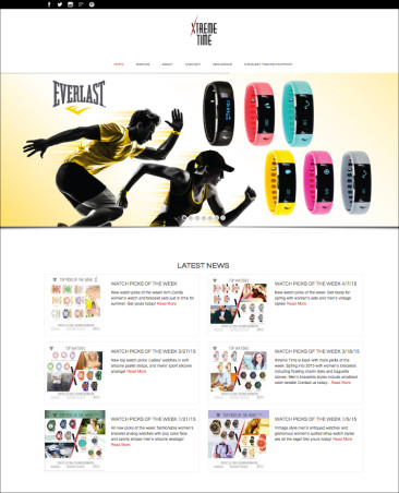 XTREMETIME.COM WEB LAYOUT DESIGN – Xtreme Time Inc. 2015